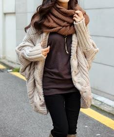 HOW-MI FASHION : Christmas Sale 20% OFF: #0073 Loose Cape Knitting Coat US$74