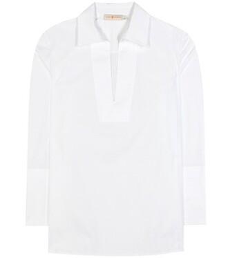 tunic cotton white top