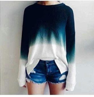 sweater blue sweater tie dye sweater gradient sweater gradient color