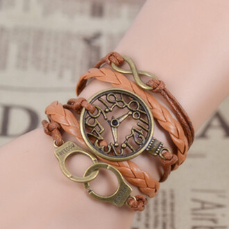 jewels bracelets fascinating infinity handmade clock braided