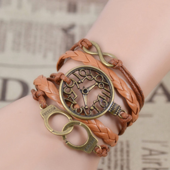 jewels braided fascinating infinity handmade clock bracelets