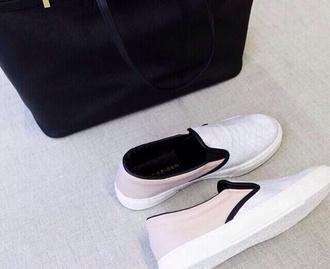 shoes white slip on plimsolls canvas vans tumblr sneakers trainer slip on shoes