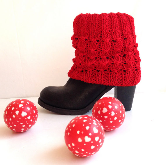 Womens Legwarmers Winter Fashion Accessories Short Knit Boot Cuffs ...