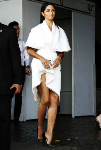 dress white dress camila alves