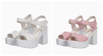 shoes platform shoes kawaii