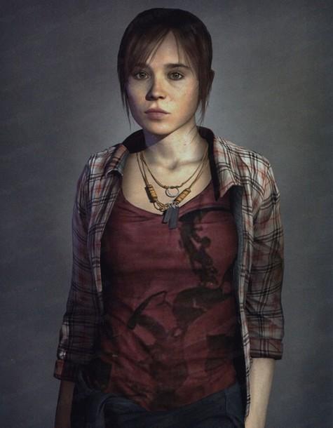 Shirt: plaid, jodie holmes, ellen page, cosplay, video ... Ellen Page Game