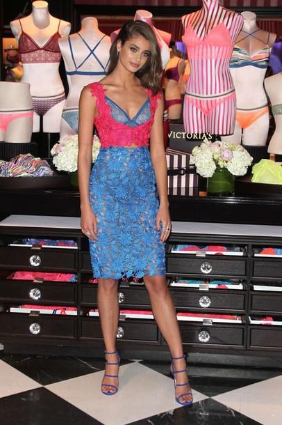 Dress Taylor Hill Model Lace Dress Midi Dress