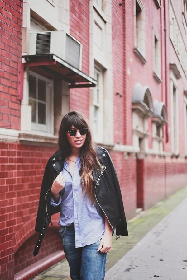 fringe and frange jeans shoes shirt jacket sunglasses