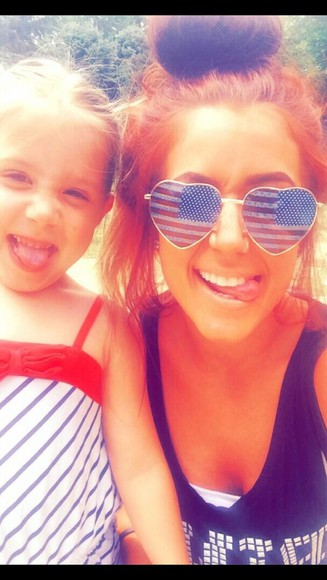 flag sunglasses chelsea houska glasses fourth of july