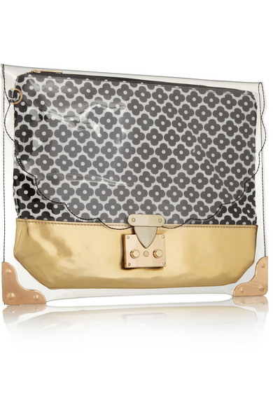 Sarah and bred pvc and canvas clutch