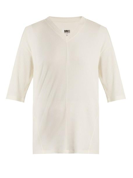 Mm6 Maison Margiela t-shirt shirt t-shirt cream top