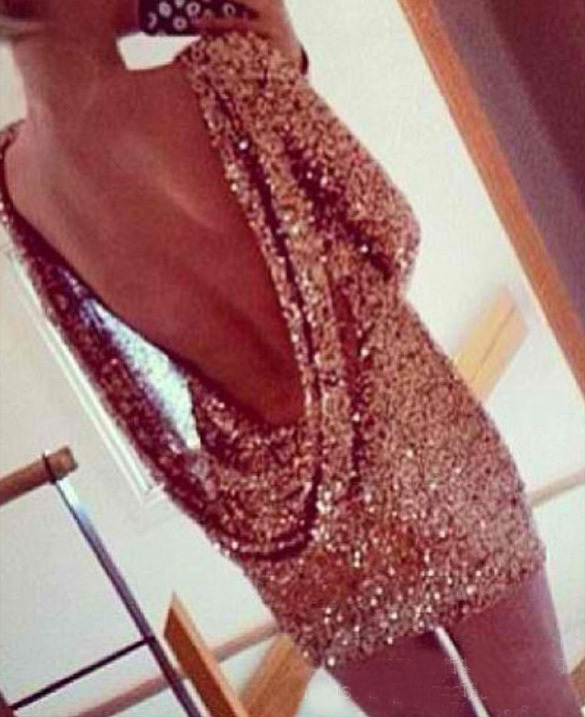 Popular clothing — sexy backless sequined dresses hj010gr