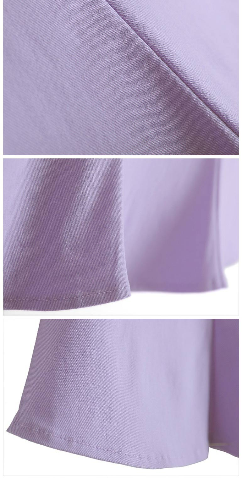 Sweet High-waist Mini Skirt in Purple [FMCC0275] - PersunMall.com