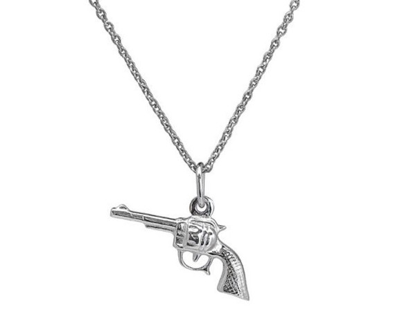 jewels gun necklace silver