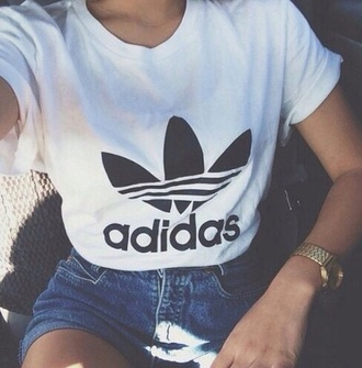 top adidas croppedtee tee white crop tops