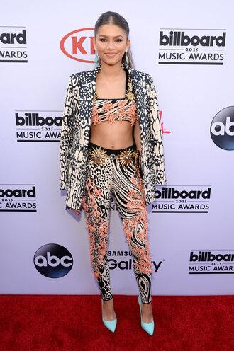pants top billboard music awards crop tops zendaya pumps blazer