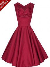 dress,burgundy,sleeveless