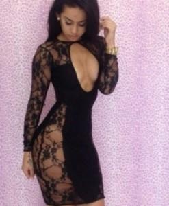 2014 New Fashion Women Sleeveless Lace Insert Bodycon Fitted Mini Casual Summer Dress 9088   Amazing Shoes UK