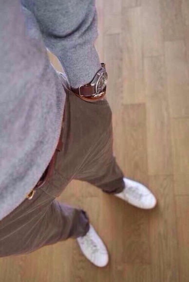 brown pants pants jewels mens watch watch brown watch
