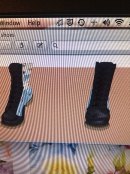 combat boots shoes black boots tan lace up light blue