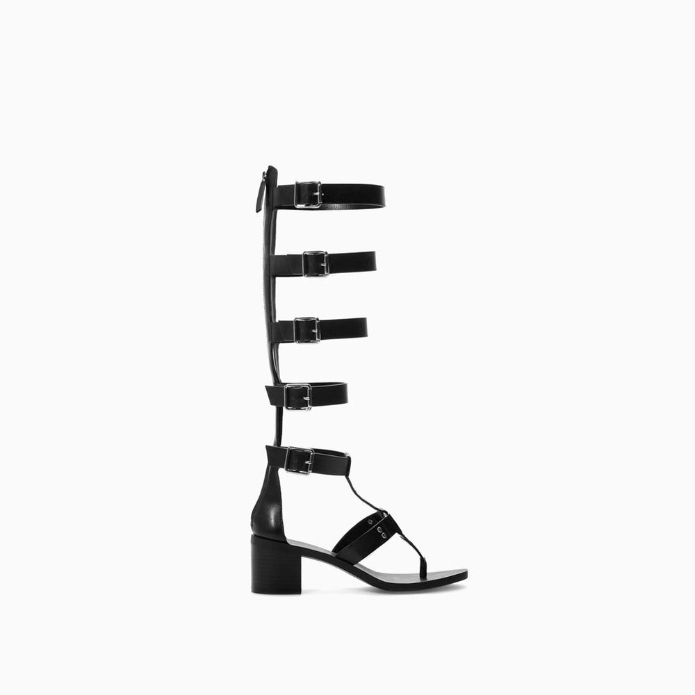 ZARA TRAFALUC TRF KNEE HIGH GLADIATOR SANDAL