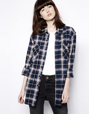Pop boutique check flannel shirt at asos