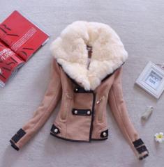 Fashion fur collar coat xf1201b