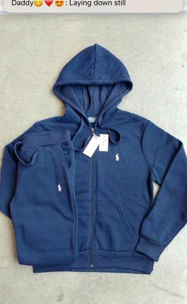 genuine latest style distinctive design good polo ralph lauren navy sweatsuit yourself fbde7 fd8fb