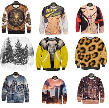 Wholesale Spring Autumn Women Men Sweatshirt Animal Scene Under t shirt Sexy Lady Hoodies 3d print  Skyscraper Night Light-in Hoodies & Sweatshirts from Apparel & Accessories on Aliexpress.com