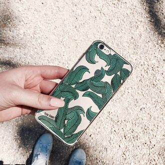 phone cover yeah bunny leaves clear leaf print iphone cover iphone case iphone