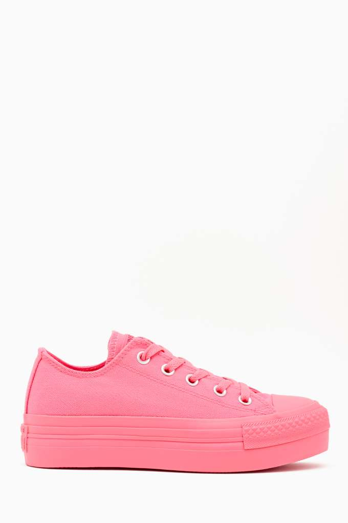 Converse All Star Platform Sneaker - Pink at Nasty Gal