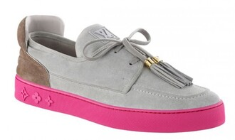 shoes louis vuitton dope dope wishlist pink grey exclusive