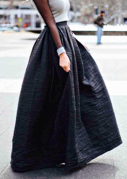 skirt long skirt fashion cute skirt