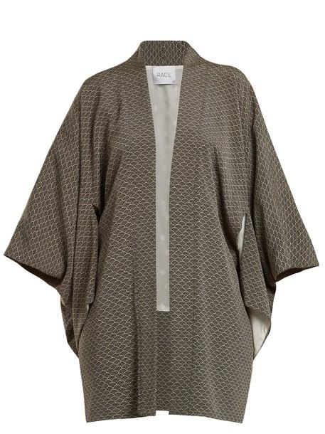 Racil jacket kimono jacket jacquard white black