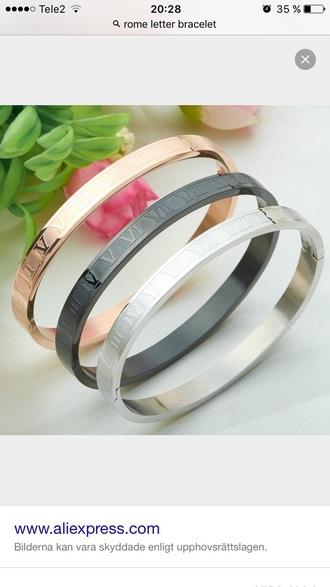 jewels silver gold black bracelets