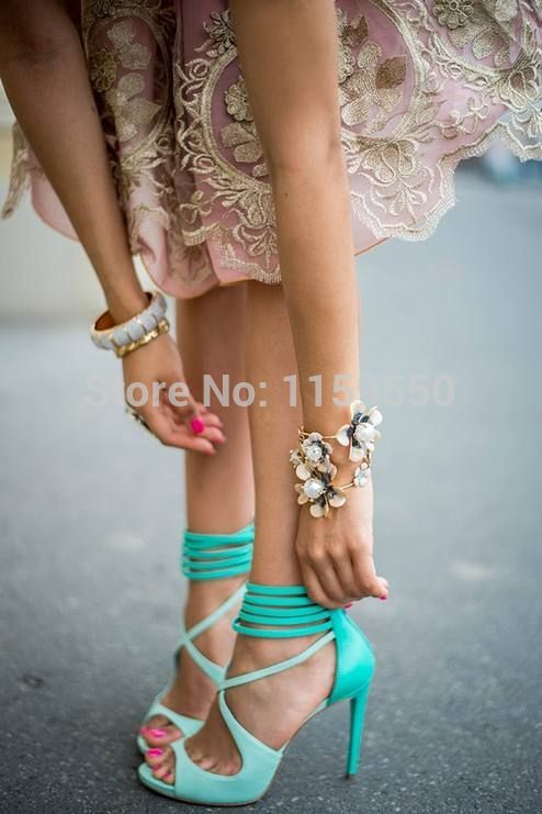 Aliexpress.com : Buy mint green high heels lace up sandals for women 2014 from Reliable sandal heel suppliers on claire store