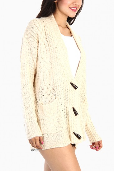 Omg classic cable knit cardigan