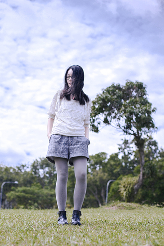 pupuren blogger shorts knitwear