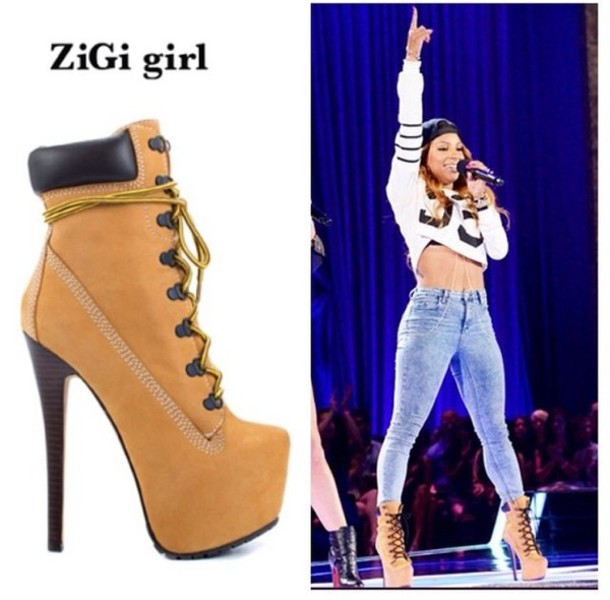 zigi timberland heels for women