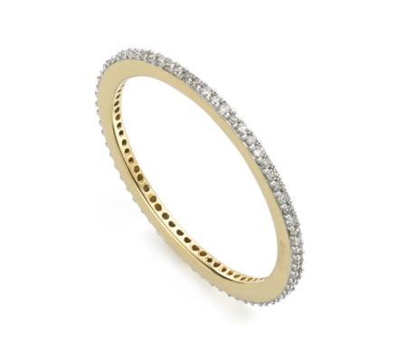 Diamond Eternity Ring | Gold Eternity Band | Monica Vinader