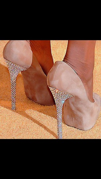 shoes beige shoes glitter shoes high heels
