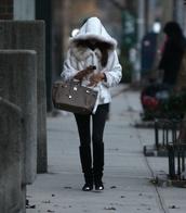 jacket,fur,white,faux fur jacket