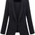 ROMWE   Pocket Black Blazer, The Latest Street Fashion