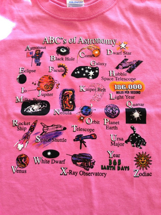 shirt space astronomy abc alphabet