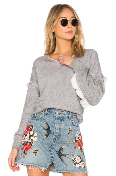 Wildfox Couture sweatshirt ruffle sweater