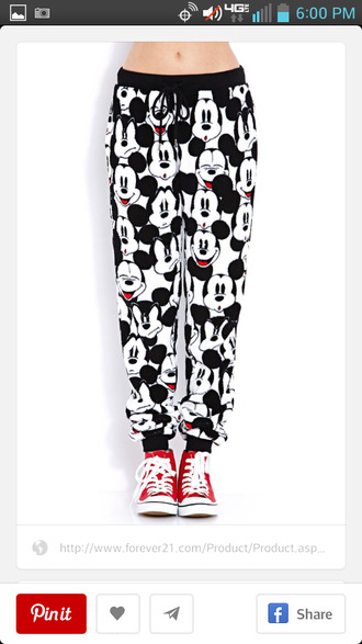 pants joggers pants mickey mouse
