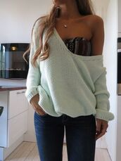 underwear,aztec,bra,sweater,jewels,fine knit jumper,pullover,off-soulder,blouse,bralette,t-shirt,bandeau,jeans,top,white,jumper,oversized,off the shoulder,tumblr,pretty,tribal pattern,baggy,padded,oversized sweater,off the shoulder sweater,i hope for good answers,cardigan