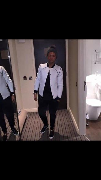 coat white bomber jacket