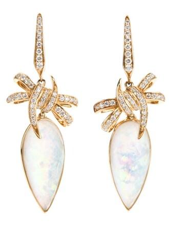 bow earrings metallic jewels
