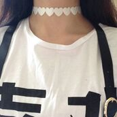 jewels,jewelry,white,heart,choker necklace,choker collar,choker colar,pale,stylish,style,trendy,blogger,fashionista,chill,rad,on point clothing